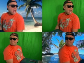 Beach boy green screen